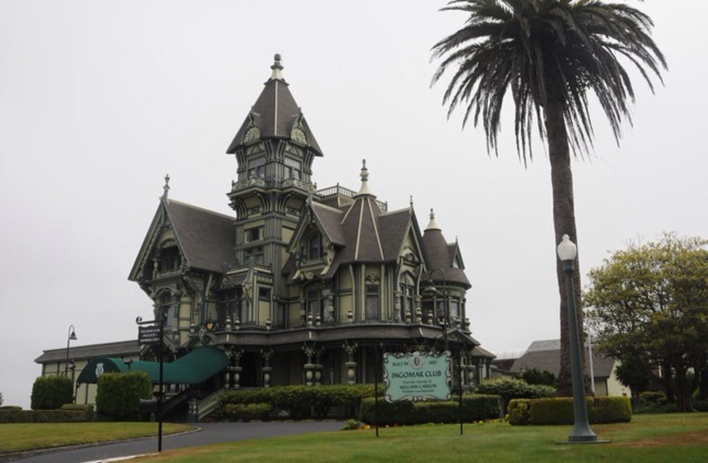 The Victorian houses in Eureka