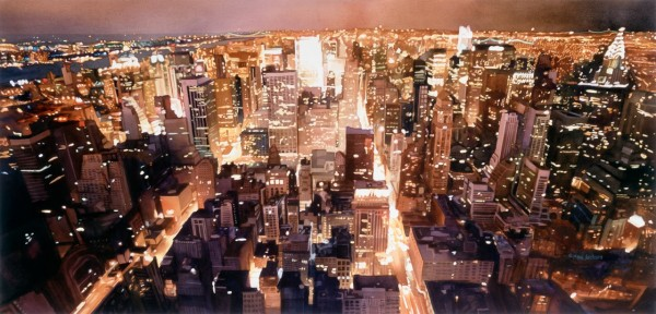 """Manhattan Tapestry"" by Paul Jackson. Watercolor on paper, 27x56"
