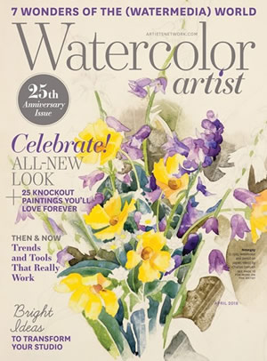 Watercolor Artist Magazine April 2018 cover